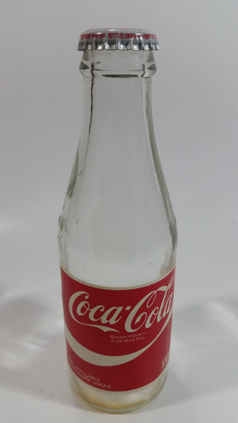 1980s Coca-Cola Coke Cola Soda Pop 6 Fl oz. 170mL Paper Label Glass Bottle with Cap - Non-Refillable