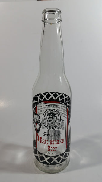 Spoetzl Breweries Rattlesnake Beer 12 Fl. oz Clear Glass Bottle Shiner, Texas
