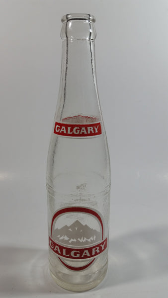 Vintage Calgary Brewing Co. Beer Mountains and Horseshoe Design 10 Fl. oz Clear Glass Bottle