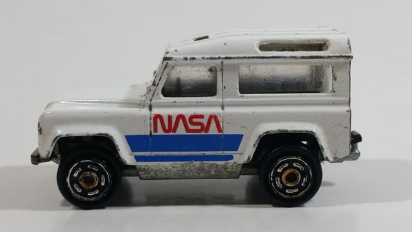 Majorette Land Rover NASA No. 266 National Aeronautics and Space Administration White Die Cast Toy Car Vehicle