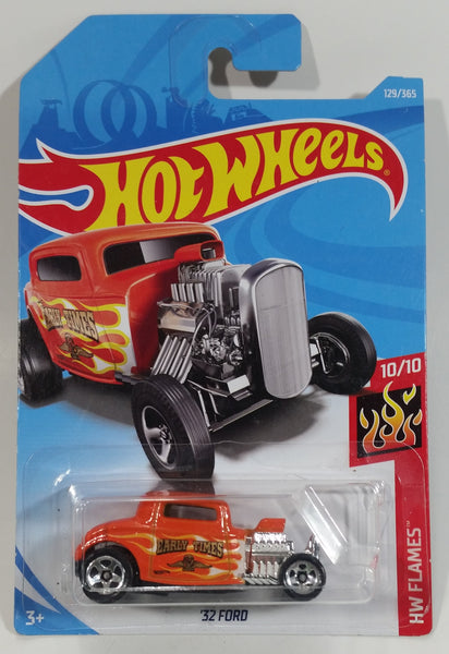 2018 Hot Wheels HW Flames '32 Ford Orange Die Cast Toy Car Vehicle - New in Package Sealed