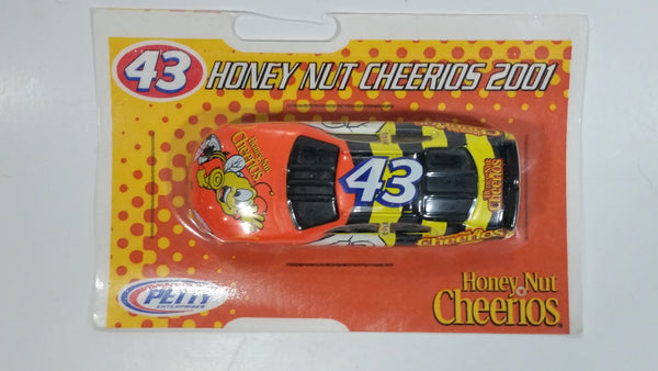 2001 2002 NASCAR General Mills Honey Nut Cheerios #43 Orange, Yellow, White, Black Die Cast Toy Race Car Vehicle New in Package