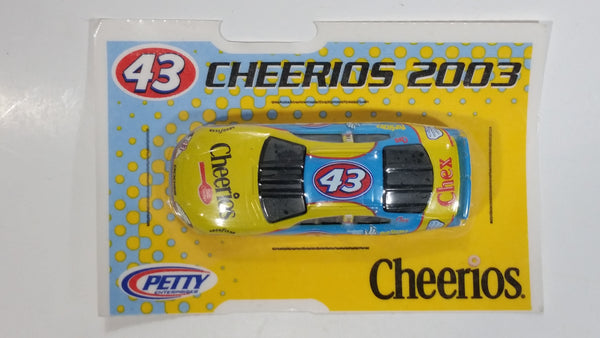 2003 NASCAR General Mills Cheerios Cereal Chex Pilsbury #43 Yellow Blue Die Cast Toy Race Car Vehicle New in Package
