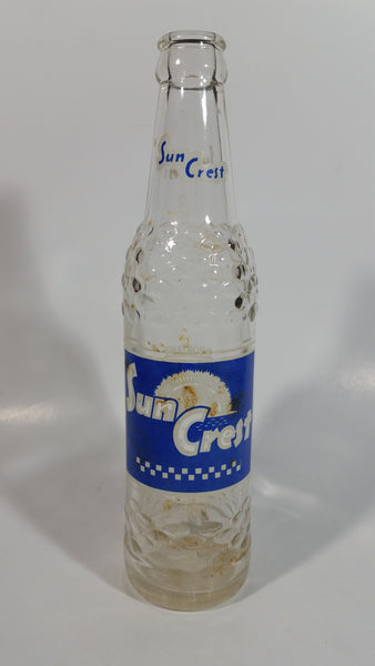 Vintage Sun Crest Soda Pop 10 Fl oz Clear Glass Beverage Bottle Wynola Corp Ltd.