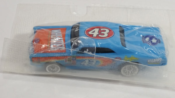 2004 Hot Wheels General Mill's Salute to Richard Petty Wheaties Cereal '67 Pontiac GTO #43 Light Blue Die Cast Toy Car Vehicle New in Package
