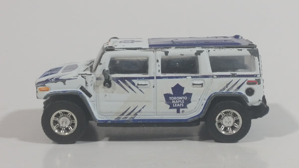 2004 2005 Season Fleer NHL Ice Hockey Toronto Maple Leafs Hummer H2 White Blue Die Cast Toy Car Vehicle