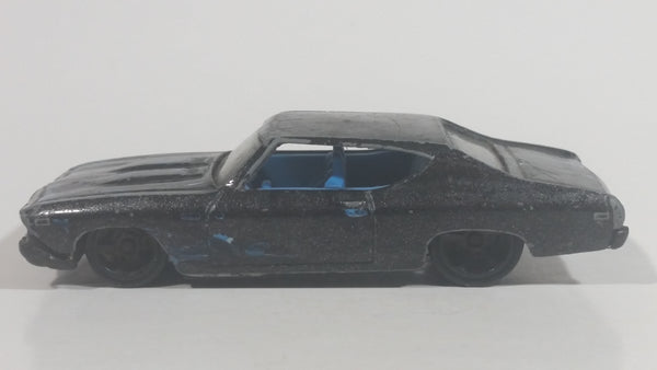 2013 Hot Wheels HW Showroom Heat Fleet '69 Chevelle SS 396 Metallic Black Die Cast Toy Muscle Car Vehicle