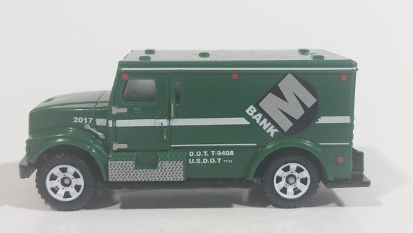 2017 Matchbox City Service International Armored Car Green Die Cast Toy Truck Vehicle