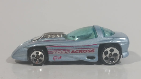 1999 Hot Wheels Classic Games Silhouette II Light Metallic Grey Blue Die Cast Toy Car Vehicle