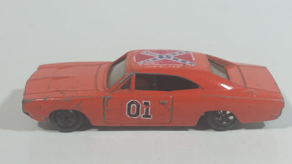 Vintage 1981 Warner Bro. ERTL Dukes of Hazzard General Lee Orange Die Cast Toy Muscle Car Vehicle TV Show Collectible