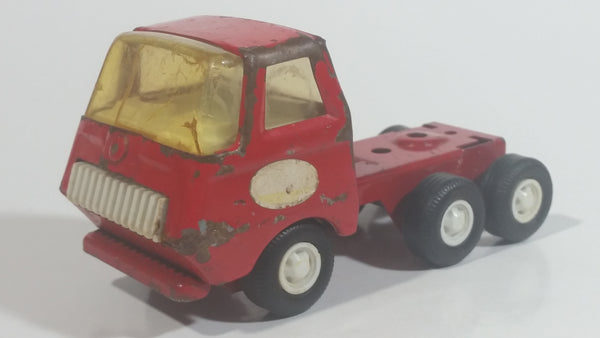 Vintage 1970s Tonka Red Pressed Steel Semi Tractor Toy Truck