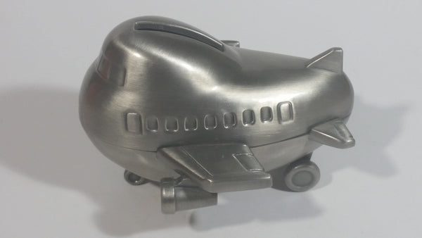 Stubby Kids Style Airplane Jet Liner Metal Coin Bank