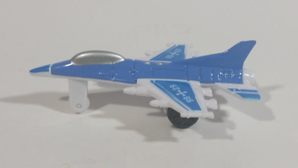 "Unknown Brand Blue and White ""98"" ""29"" Fighter Jet Airplane Die Cast and Plastic Toy Aircraft Vehicle"
