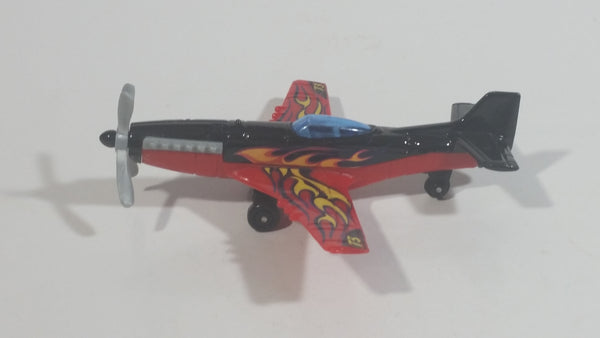 2014 Matchbox Stunt Plane 73 Red Black Die Cast Toy Aircraft Vehicle