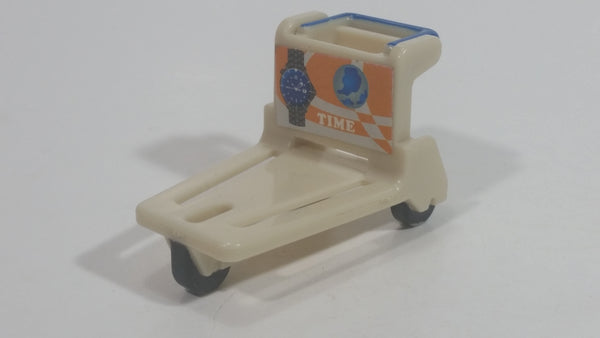 Small Airport Luggage Baggage Cart Plastic Toy
