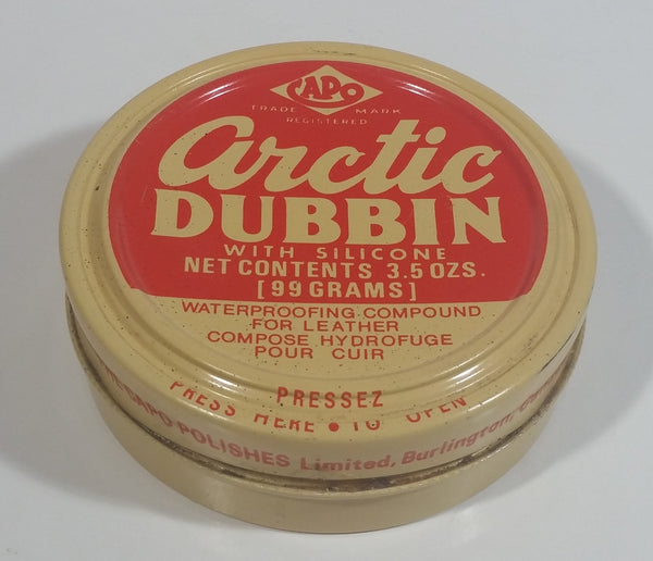 Vintage The Capo Polishes Limited Arctic Dubbin with Silicone Water Proofing Compound For Leather 3.5 oz Round Tin Some Product Inside - Burlington, Ontario