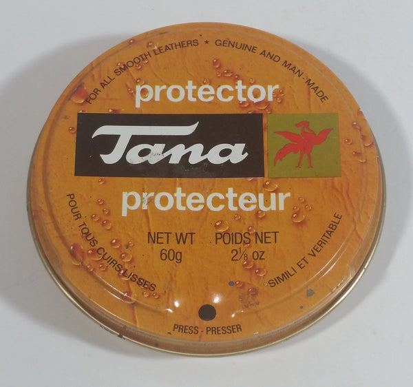 Vintage Tana Boot Shoe Polish 60g Round Tin Some Dry Product Inside Montreal Quebec