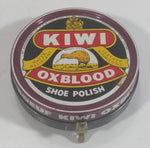 Vintage Kiwi Oxblood Boot Shoe Polish Small Round Tin Some Dry Product Inside Made in Canada (Hamilton)