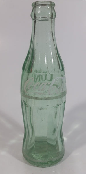 Vintage Coca Cola Coke Soda Pop Green Glass 6 1/2 oz. Hobble Skirt Beverage Bottle Oklahoma City