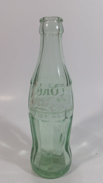 Vintage Coca Cola Coke Soda Pop Green Glass 6 1/2 oz. Hobble Skirt Beverage Bottle Beaumont Texas