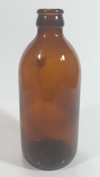 Vintage Stubby Brown Amber Glass Beer Bottle Made in Canada