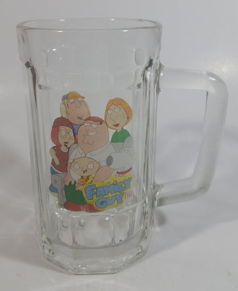 2013 20th Century Fox Family Guy Heavy Glass Beer Mug TV Cartoon Collectible Faded