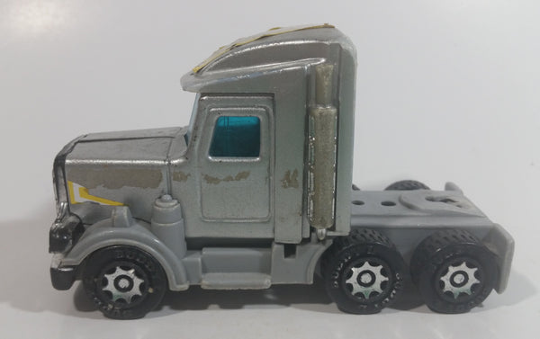 Vintage 1980 Buddy L Grey Silver Semi Tractor Truck Die Cast and Plastic Toy Car Vehicle Rig