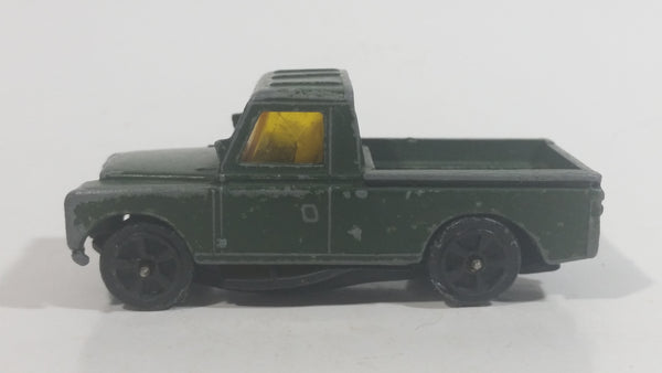 Vintage Corgi Whizzwheels Land Rover Truck Army Green Die Cast Toy Car Vehicle Made in Gt. Britain