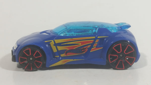 2017 Hot Wheels Gas Station High Voltage Blue Die Cast Toy Race Car Vehicle