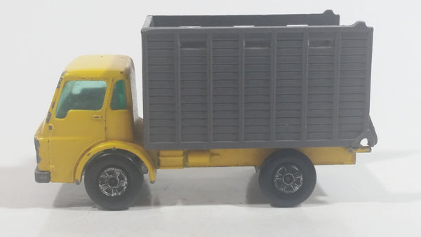 Vintage Lesney Matchbox Series Cattle Truck No. 37 Yellow Die Cast Toy Car Vehicle
