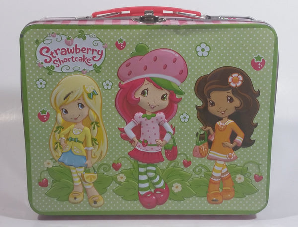2012 American Greetings Strawberry Short cake Embossed Pink and Green Tin Metal Lunch Box