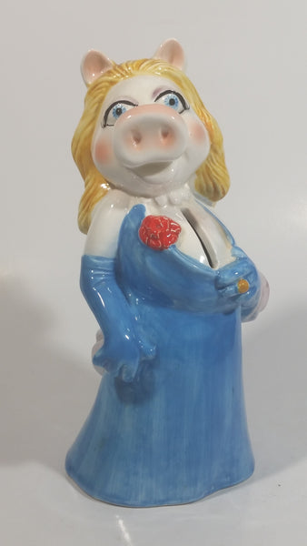 "Sigma The Muppets Miss Piggy in Blue Dress 8"" Tall Ceramic Coin Bank"