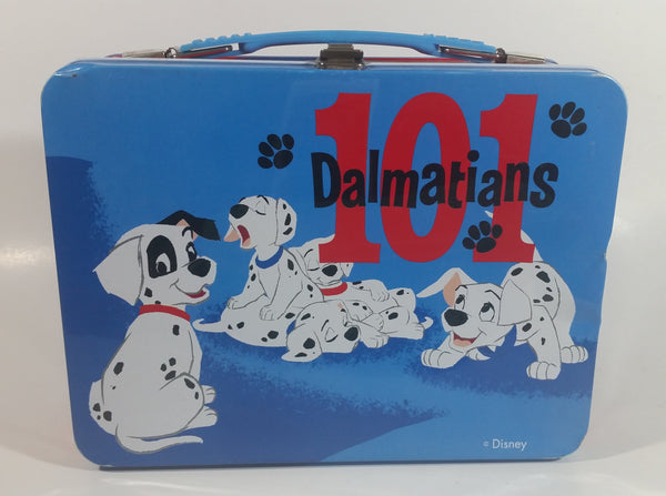 Disney Store 101 Dalmatians Animated Movie Film Dog Characters Blue and Red Metal Lunch Box