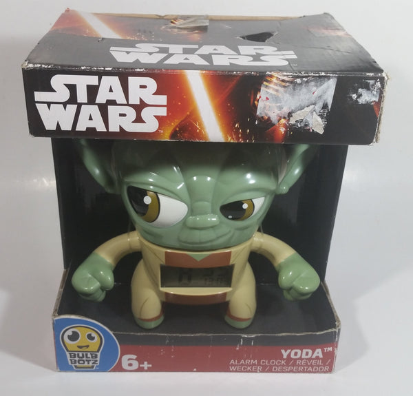 "2015 Bulb Botz Star Wars 7 1/2"" Tall Yoda Character Alarm Clock Still in Box"