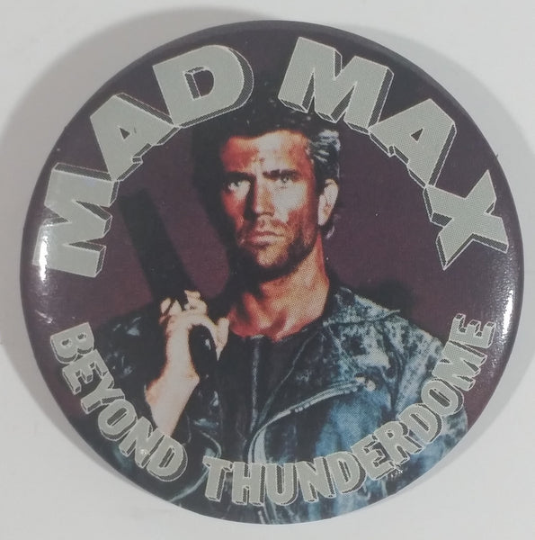 1985 Warner Bros. Mad Max Beyond Thunderdome Science Fiction Movie Film Mel Gibson Round Button Pin
