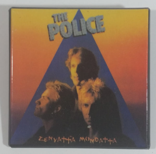 1980 Ron Boutwell Enterprises The Police Zenyatta Mondatta Album English Rock Band Square Pin Music Collectible