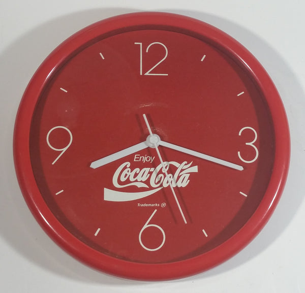 "1990s Coca-Cola Coke Soda Pop Red Round Circular 9 3/4"" Clock Collectible"