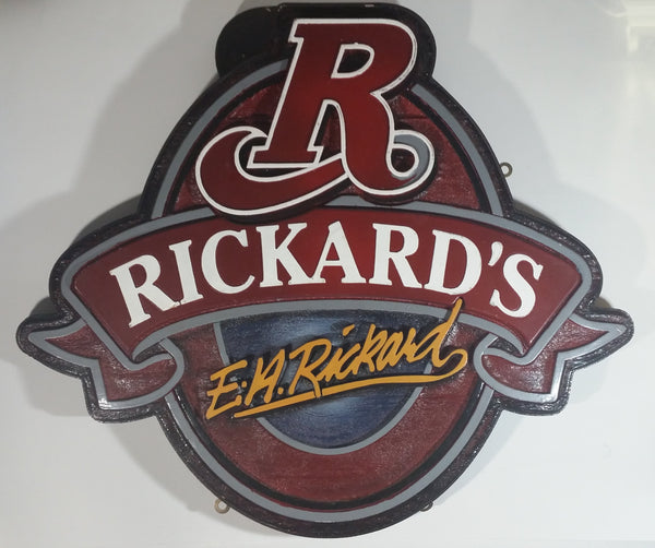 "E.H. Rickard's Beer 21"" x 24"" Double Sided Wood Sign Pub Bar Lounge Advertising Collectible"