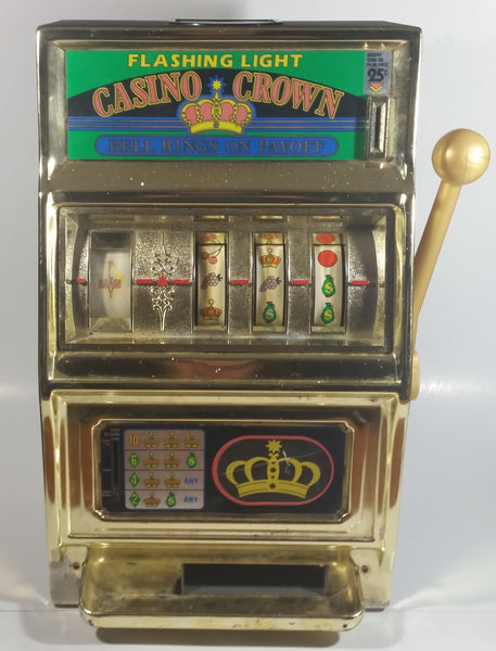 "Vintage Waco Flashing Light Casino Crown ""Bell Rings On Payoff"" 16"" Tall Metal Slot Machine Gambling Bar Collectible"