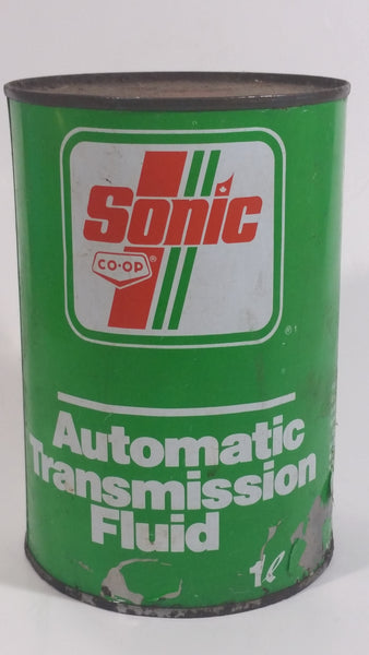 Vintage Co-op Sonic ATF Automatic Transmission Fluid 1L Tin Metal Can Empty Saskatoon, Saskatchewan
