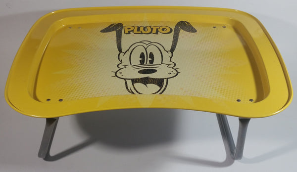 Disney Pluto Yellow and Black Folding Metal Lunch TV Tray TV Collectible