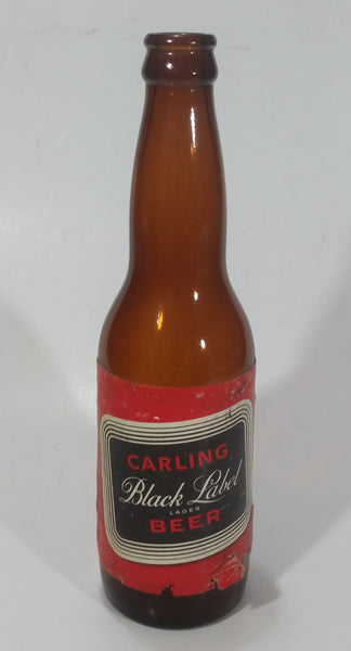 Vintage Carling Black Label Lager Beer Amber Brown Glass Bottle