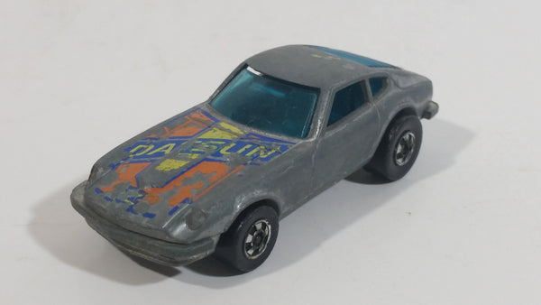Vintage 1977 Hot Wheels Flying Colors Z-Whiz Datsun Z Grey Die Cast Toy Car Vehicle BW Hong Kong