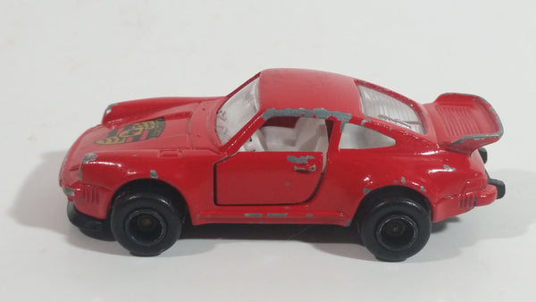 Vintage Majorette Porsche 911 Turbo No 209 Red 1 57 Scale Die Cast