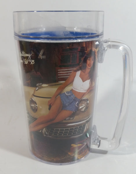 1993 Jan. Feb. Snap-On Tools Pinup Girl Brittany Thermoserve Plastic Beer Mug Cup Automotive Collectible