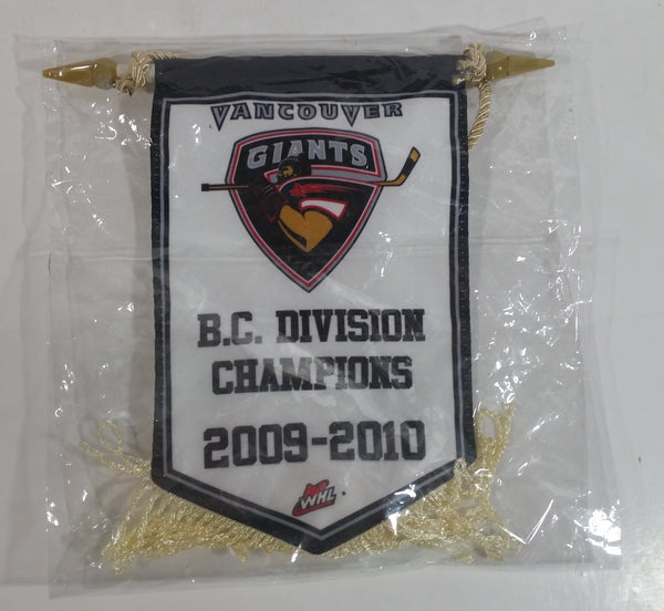 "WHL Vancouver Giants Ice Hockey Team B.C. Division Champions 2009-2010 5"" x 8"" Banner"