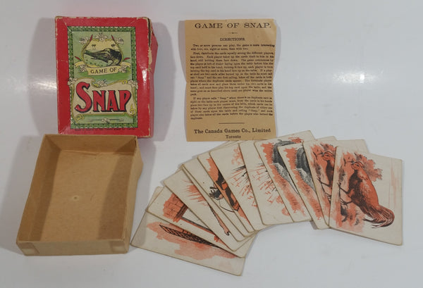Antique The Canada Games Co. Game of Snap with Instructions - Toronto, Canada