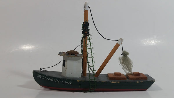 "Detailed Bellingham, Washington Souvenir 7"" Long Wood Fishing Boat Ship"