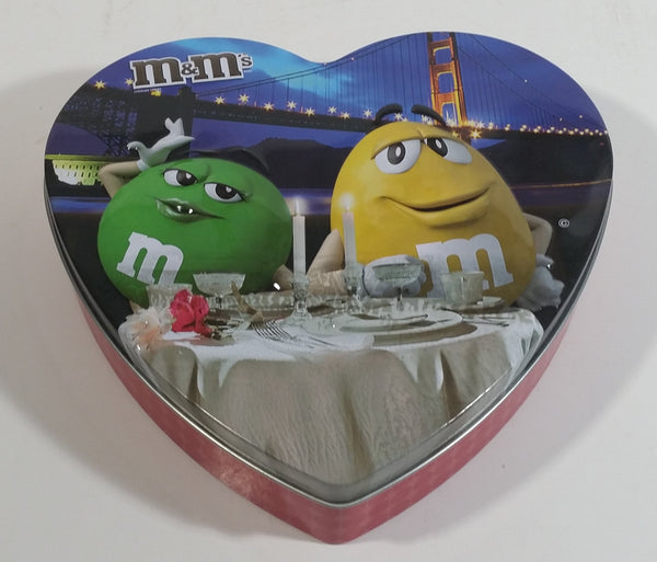 2016 Carter Collectible M&M's Valentine Heart Shaped Metal Tin Box Container
