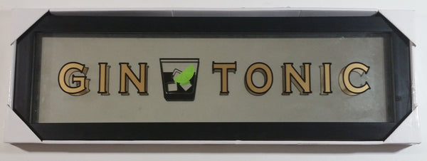 Gin and Tonic Alcohol Themed Glass Black Framed Shadow Box Sign Bar Pub Lounge Wall Decor Still in Packaging